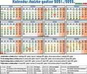 Kalendar šk.god. 2021/22